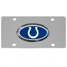 Indianapolis Colts Oval Logo Stainless Steel License Plate