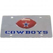 Dallas Cowboys Mirrored License Plate