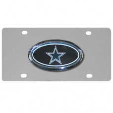 Dallas Cowboys Oval Logo Stainless Steel License Plate