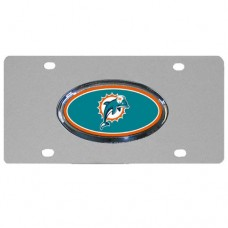 Miami Dolphins Oval Logo Stainless Steel License Plate
