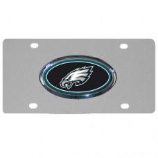 Philadelphia Eagles Oval Logo Stainless Steel License Plate