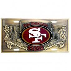 NFL- San Francisco 49ers Brass License Plate