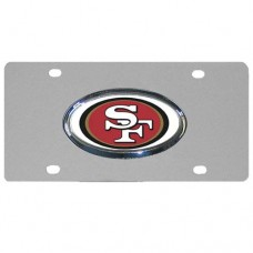 San Francisco 49ers Chrome Logo Stainless Steel License Plate