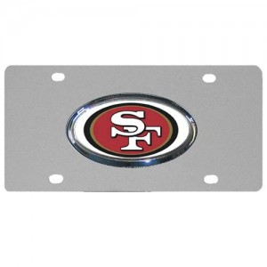 San Francisco 49ers Chrome Logo Stainless Steel California License Plate