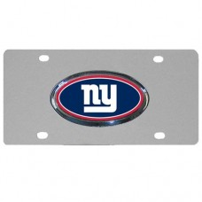 New York Giants Oval Logo Stainless Steel License Plate