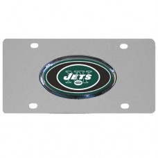New York Jets Oval Logo Stainless Steel License Plate
