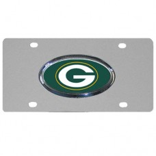 Green Bay Packers Oval Logo Stainless Steel License Plate