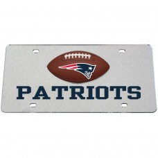 New England Patriots Mirrored License Plate