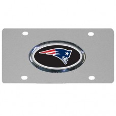 New England Patriots Oval Logo Stainless Steel License Plate