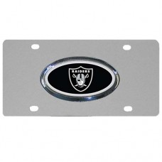 Oakland Raiders Oval Logo Stainless Steel License Plate