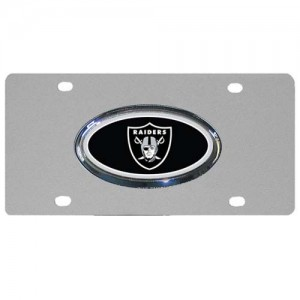 Oakland Raiders Oval Logo Stainless Steel California License Plate