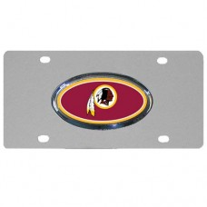 Washington Redskins Oval Logo Stainless Steel License Plate