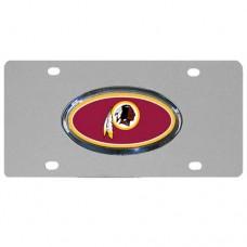 Washington Redskins Oval Logo Stainless Steel License Plate