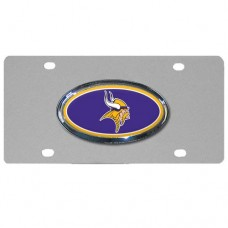Minnesota Vikings Oval Logo Stainless Steel License Plate