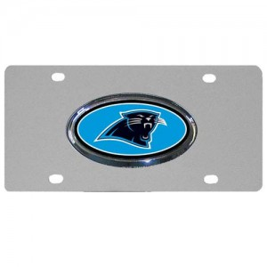 Carolina Panthers Oval Logo Stainless Steel NC License Plate