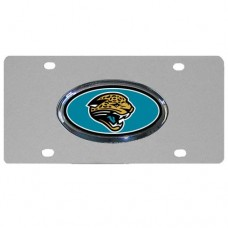 Jacksonville Jaguars Oval Logo Stainless Steel License Plate