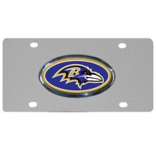 Baltimore Ravens Oval Logo Stainless Steel License Plate