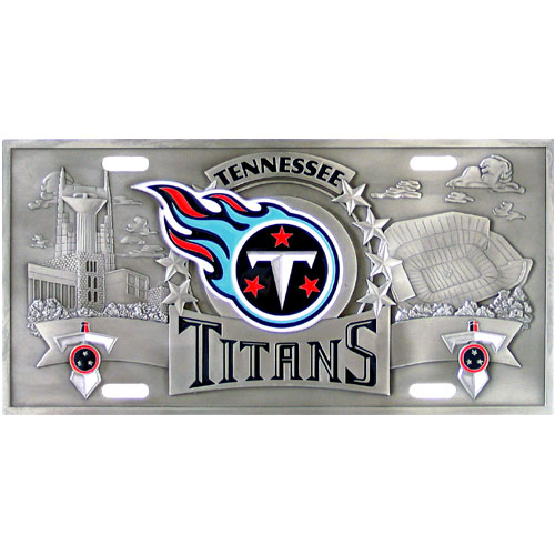 Tennessee Titans - 3D NFL Tennessee License Plates