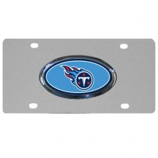 Tennessee Titans Oval Logo Stainless Steel License Plate