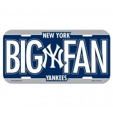 New York Yankees Big Fan License Plate
