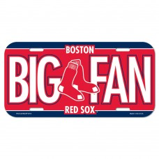 Boston Red Sox Big Fan License Plate