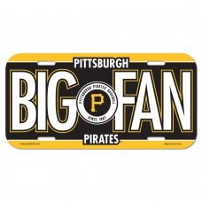 Pittsburgh Pirates Big Fan License Plate