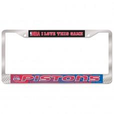 Detroit Pistons Metal License Plate Frame