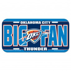 Oklahoma City Thunder License Plate