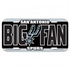 San Antonio Spurs Big Fan License Plate