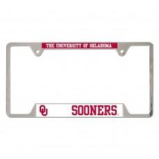 Oklahoma University of Metal License Plate Frame
