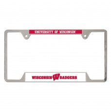 Wisconsin University of Metal License Plate Frame