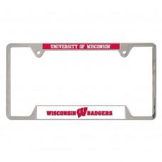 Wisconsin University of Metal License Plate Frame