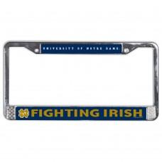 Notre Dame Metal License Plate Frame USA