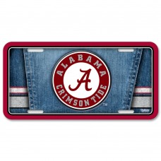 Alabama University of Metal License Plate