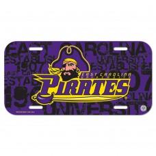East Carolina University Pirates License Plate