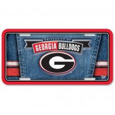 Georgia University of Metal License Plate