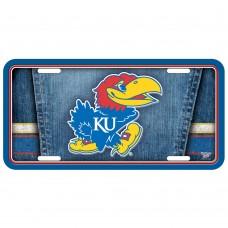 Kansas University of Metal License Plate