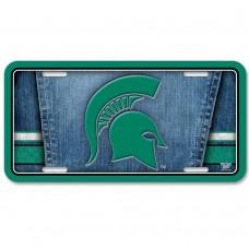 Michigan State University Metal License Plate