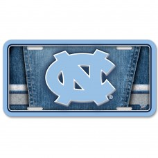 North Carolina University of Metal License Plate