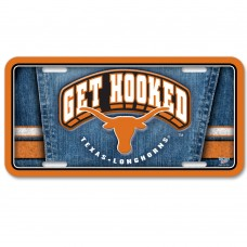 Texas University of Metal License Plate