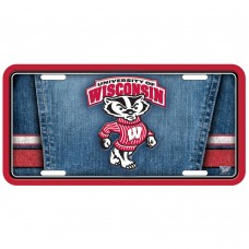 Wisconsin University of Metal License Plate