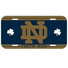 Notre Dame License Plate
