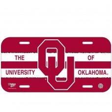 Oklahoma University of License Plate