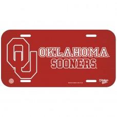 Oklahoma University of Red BG License Plate