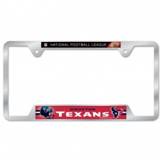 Houston Texans Metal License Plate Frame
