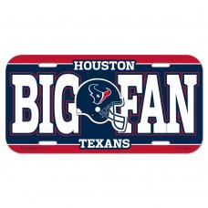 Houston Texans Big Fan License Plate