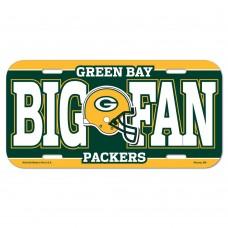 Green Bay Packers Big Fan License Plate