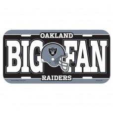 Oakland Raiders Big Fan License Plate