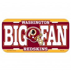 Washington Redskins Big Fan License Plate