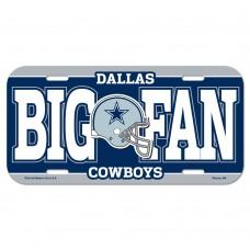 Dallas Cowboys Big Fan License Plate